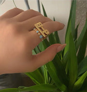 Custom Initial Ring - BERNA PECI JEWELRY