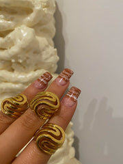 Gold Caramel Swirl Ring - BERNA PECI JEWELRY