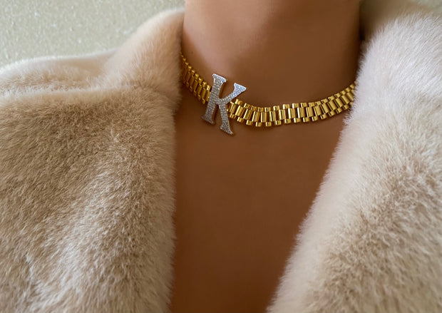 Iconic Gold Initial Link - BERNA PECI JEWELRY