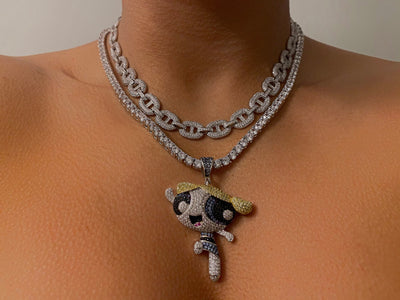 Iced Out Bubbles Necklace - BERNA PECI JEWELRY