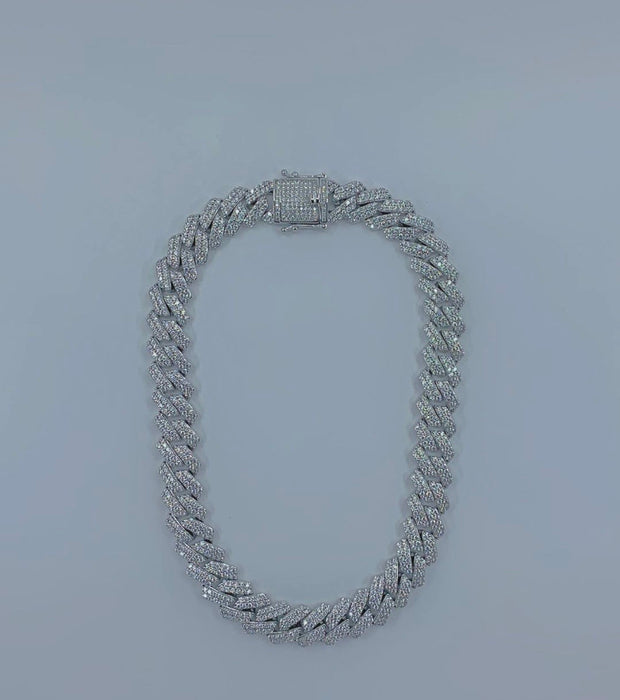 New Ultimate Silver Crystal Cuban - BERNA PECI JEWELRY