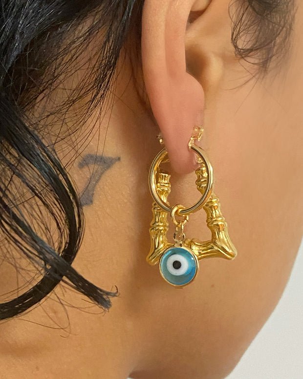 Mini Vintage Evil Eye Hoop - BERNA PECI JEWELRY