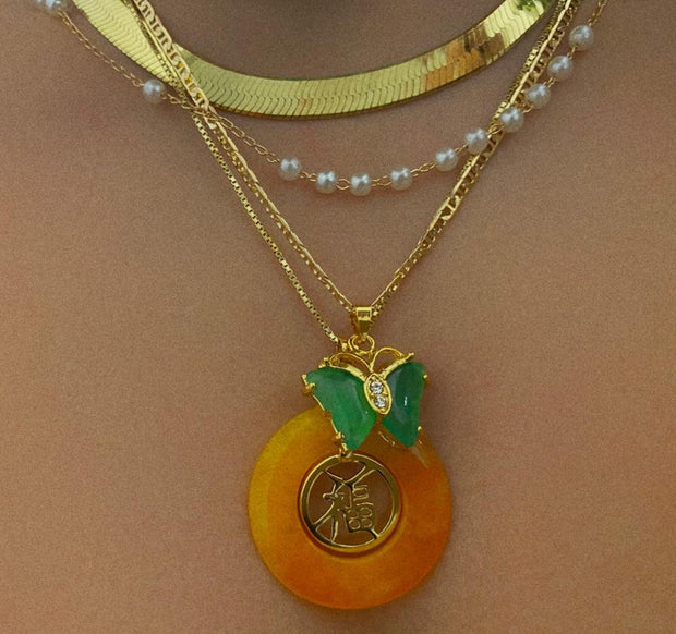 Orange Lucky Charm - BERNA PECI JEWELRY