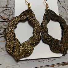 Gold Shimmer Moroccan Leather Earrings