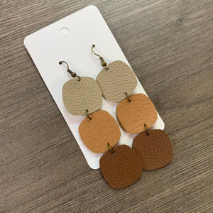 Ombré Drop Leather Earrings