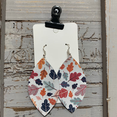 Fall Leaves Leaf leather Earrings