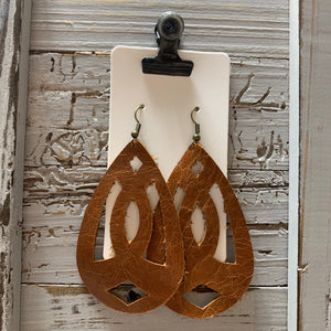 Brown Avonlea Leather Earrings