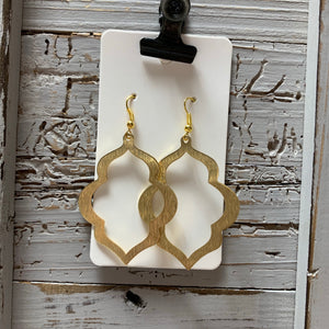Moroccan Brass Drop Earrings