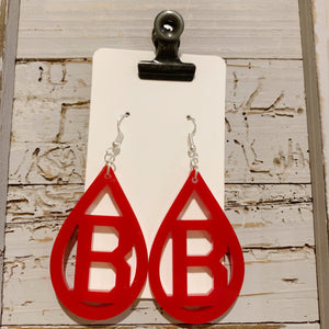 Beechwood Acrylic Earrings