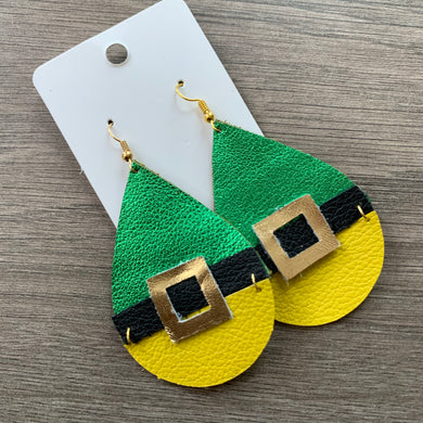 Buddy the Elf Leather Earrings