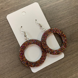 Sparkle Circle Acrylic Earrings