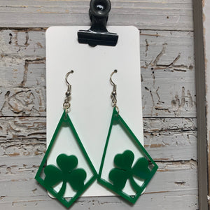 Ballyshannon Acrylic Green Earrings
