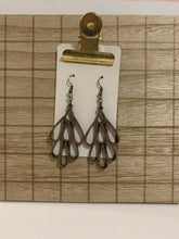 Wood Multi Teardrop Earrings