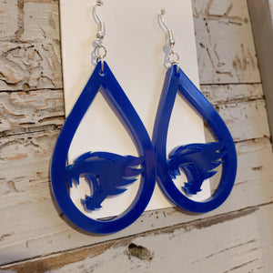 Wildcat Acrylic Teardrop Earrings