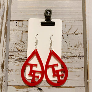 Turkeyfoot Acrylic Earrings