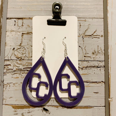Campbell County Acrylic Earrings