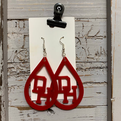 Dixie Heights Acrylic Earrings