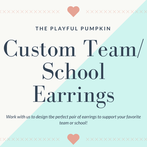 Custom Team/School Earrings
