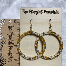 Yellow Acrylic Hoop Earrings