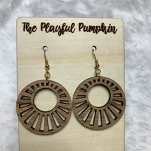 Wood Open Starburst Earrings