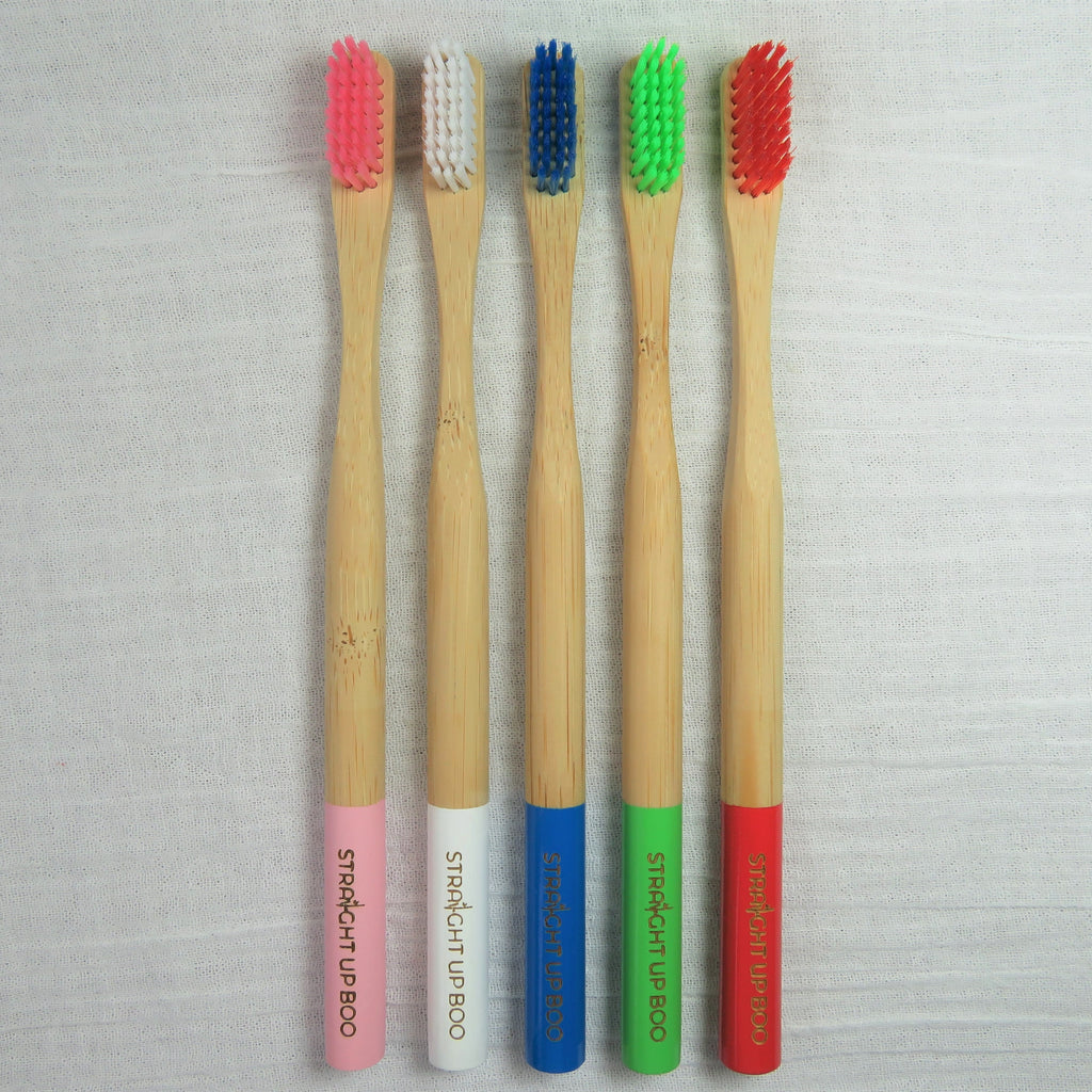 Bamboo Toothbrush 5 - Pack-Straight Up Boo