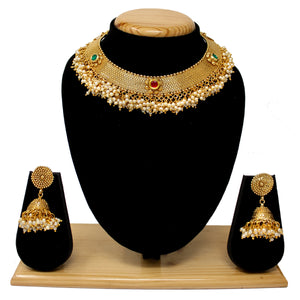 Gold Plated Antique Necklace Set