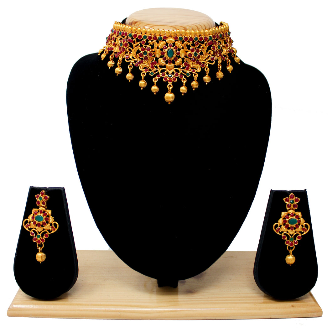 Gold Plated Antique Choker Set