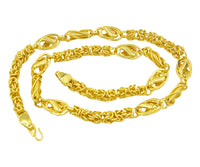 Micro Gold plated Men's & Women Chain (18 Inch)