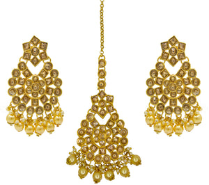 Party Wear Earrings and Maang Tikka Set