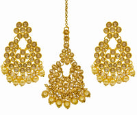 New design Kundan Earrings and Maang tikka