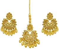 Chandbali Earringand and Maangtikka