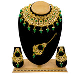 Gold Plated Traditional Kundan Choker Necklace Set For Women & Girls