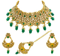 Latest Choker Design Traditional Kundan Necklace Set for Women