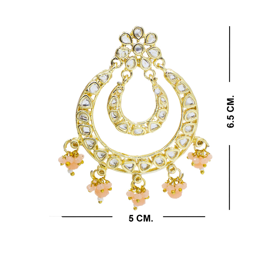 Party Wear Traditional Kundan Earring For Girls & Women