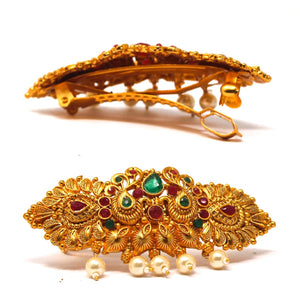 Gold Plated Temple Hair Clip - Saiyoni.com