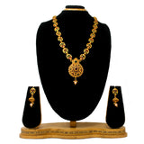 Gold Plated Antique Long Necklace Set For Women - Saiyoni.com