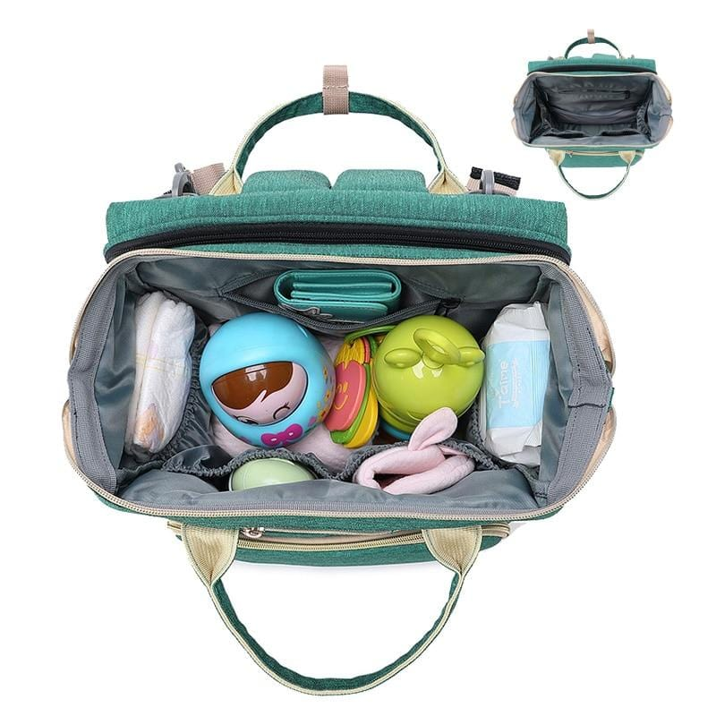 Baby Portable Bed Diaper Bag Backpack Bassinet With Stroller Straps For Travel