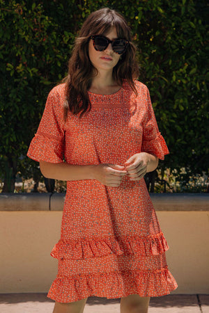 Sunday Drive Dress - CORAL