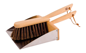 Dust Pan + Hand Brush Set with Magnet