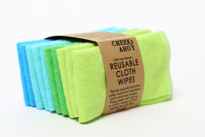 Reusable Cloth Wipes - 10 Pack