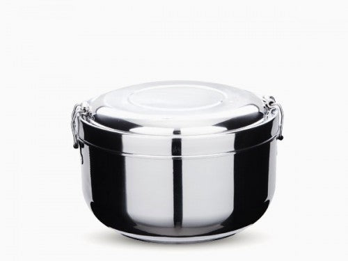 stainless steel 2 layer food storage container