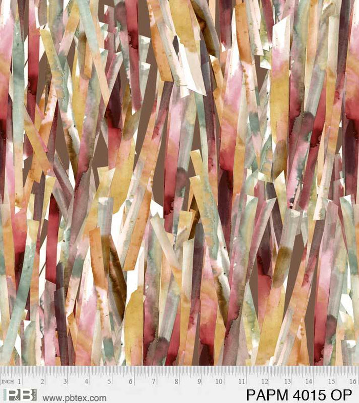 "Papier Mache Orange and Pink 44"" fabric, P&B Textiles, 04015-OP"