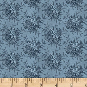 "Blue Tossed Floral Reproduction 108"" fabric by Washington Street Studio, 05043"