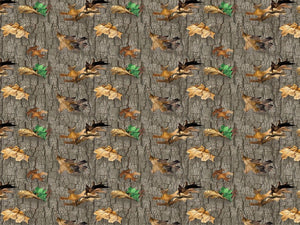 "Real Tree Nature Falling Leaves 44"" fabric by Print Concepts, 10167"