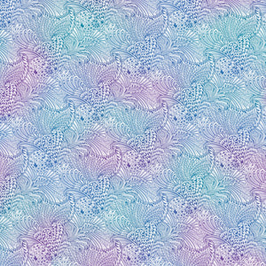 "White, Blue and Purple Mottled Opulence 108"" fabric by Benartex, 10230W-09"