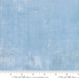 "Light Blue Grunge 108"" fabric, Moda, 11108 479, Cosmic"