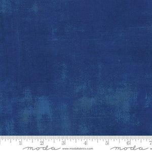 "Dark Blue Grunge 108"" fabric, Moda, 11108 223, Cobalt"