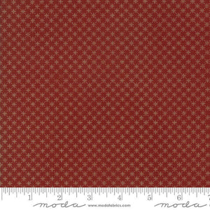 "Rust Red Reproduction Stars 108"" fabric by Moda, Timeless, 11130-16"
