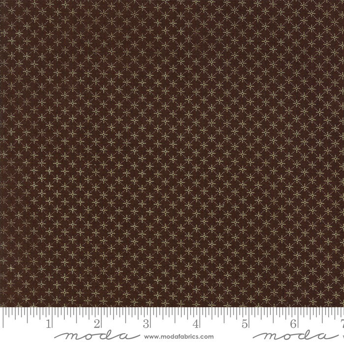"Timeless Brown Stars 108"" fabric by Moda, 11130 14"