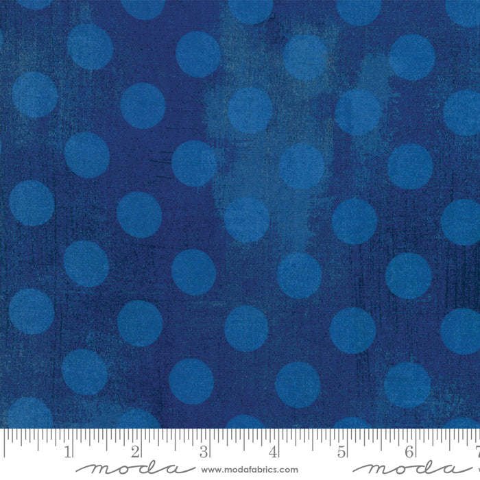 "Cobalt Blue Grunge Hits Spot 108"" fabric by Moda,11131-28"